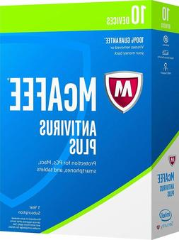 McAfee 2017 Antivirus Plus - 10 Devices 1 year subscription