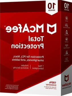 McAfee 2018 Total Protection 10 Devices OLD VERSION for PC M