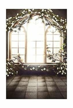 Kate 6.5x10ft French Window Indoor Flowers Background Childr
