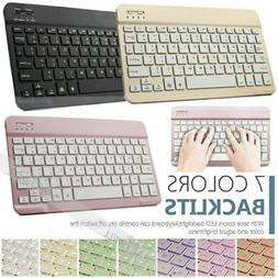 7Color Slim Backlit Wireless Keyboard For IOS Windows Androi