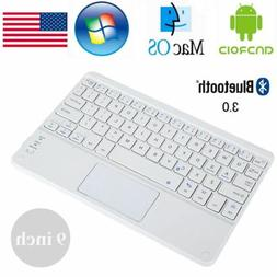 9in Wireless Bluetooth Keyboard And Mouse TouchPad For iOS A