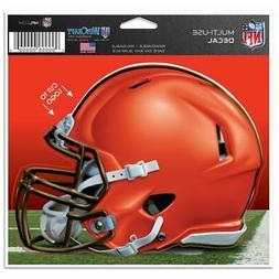 """CLEVELAND BROWNS MULTI-USE DECAL 4""""X5"""" FOR WINDOWS LAPTOP CO"""