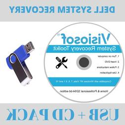 DELL Recovery Repair Disk USB Software Boot Restore CD Windo