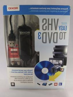 ROXIO Easy VHS to DVD 3 NEW SEALED Windows PC USB Video Capt