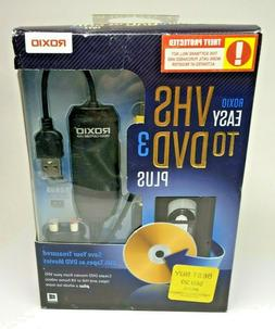 Roxio Easy VHS to DVD 3 Plus Converter Software Windows 7/8
