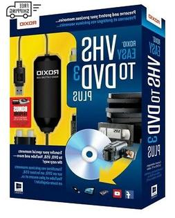 Roxio Easy VHS to DVD 3 Plus New Converter Plus For Video Ta