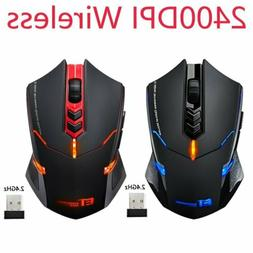 Ergonomic Grips Wireless Gaming Mouse Adjustable 2400 DPI fo