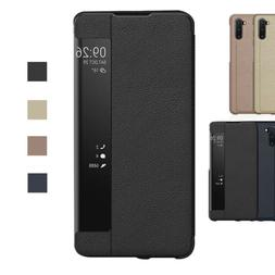 Flip Leather Smart Window View Case For Samsung Galaxy S8 S9