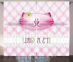 Gender Reveal Curtains 2 Panel Set Decor 5 Sizes Available W