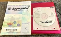 GENUINE VINTAGE WINDOWS 98 INSTALLATION CD with MANUAL & PRO