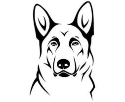 German Shepherd large decal sticker for computer/laptop or c