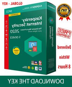 KASPERSKY INTERNET Security 2020 5 Device/ 1 Year / Download