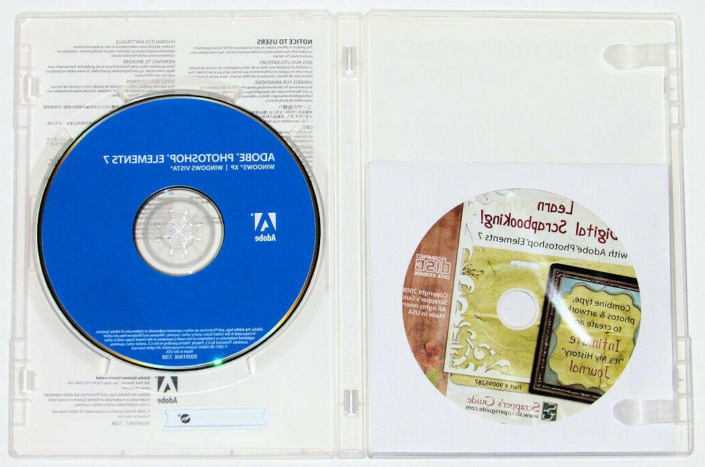 2008 Photoshop Elements 7 SN Graphics Software -