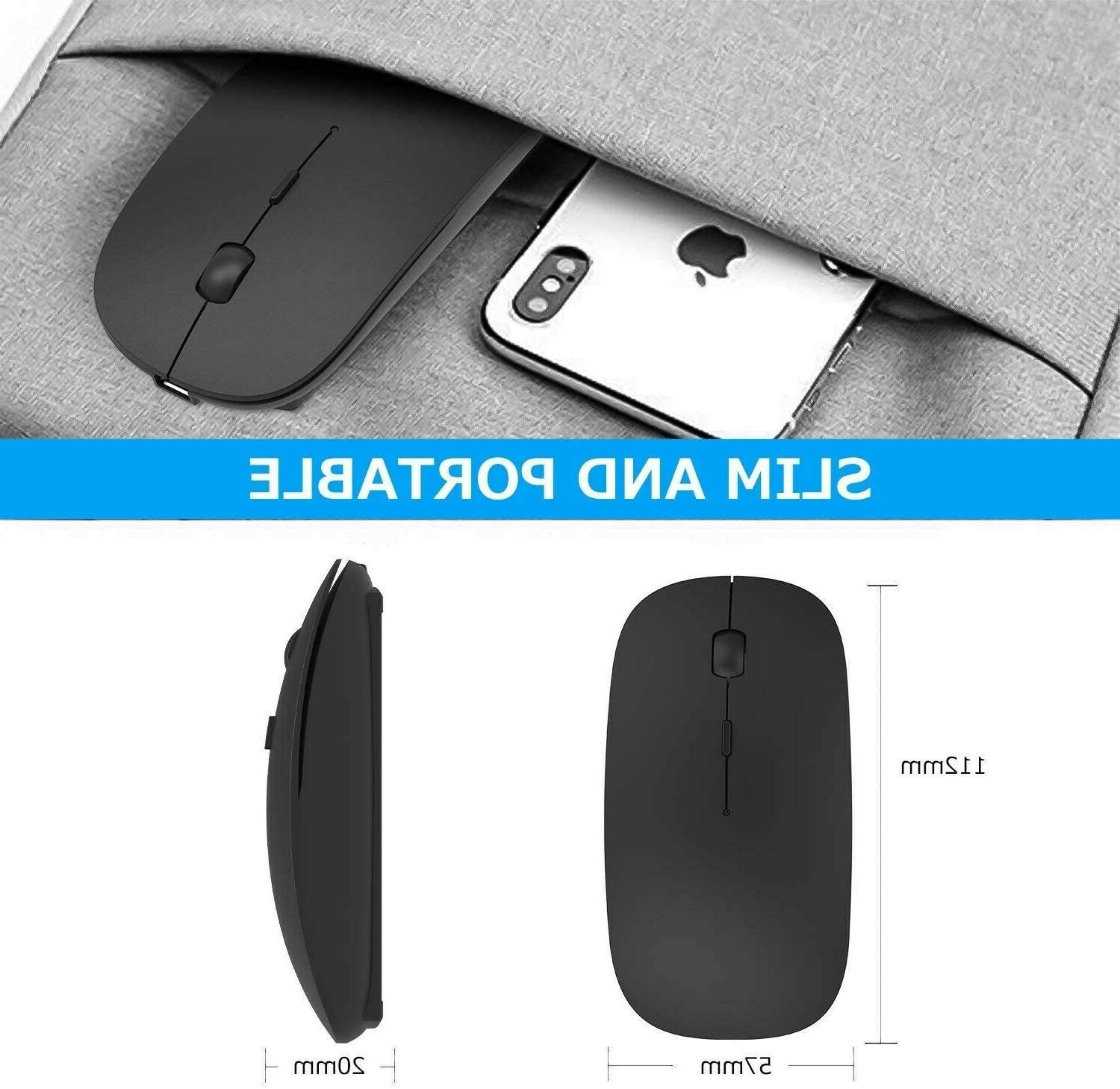 Dual Mode Wireless Bluetooth Mouse PC, Android, Windows Black