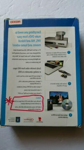 Roxio Easy to DVD Tapes Or V8 Home Videos