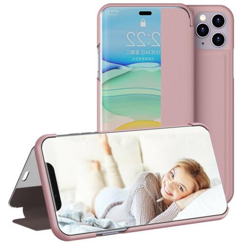 Hybrid Leather Case View Window iPhone 11 Pro XS XR 7 Plus
