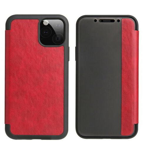 Magnetic Leather Window Case Cover iPhone 11 XS X 8 Plus