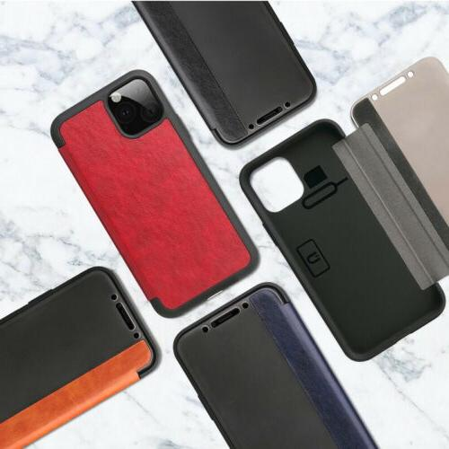 Magnetic Leather Window iPhone 11 XS Plus