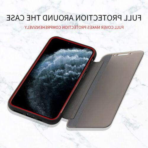 Magnetic Leather Flip View Window Case iPhone 11 Pro Max XS X Plus