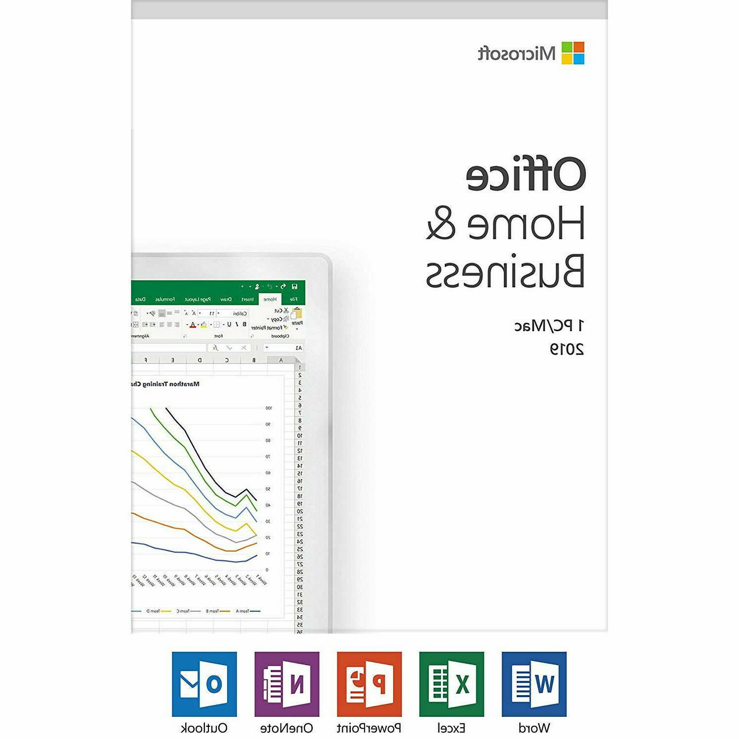 Microsoft Office Home and Business 2019 Windows or Mac 1 Lic