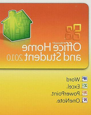 office 2010 home and student key card