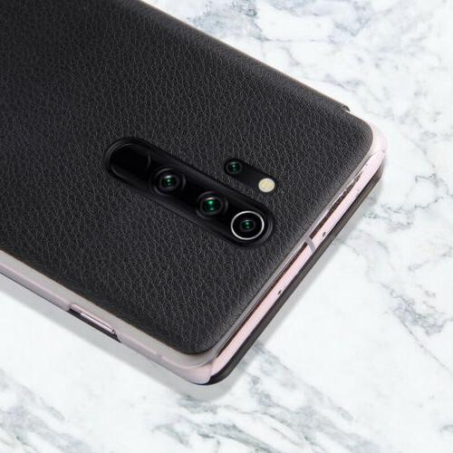 For Redmi 8t 8 Pro 8A View Window Cowhide