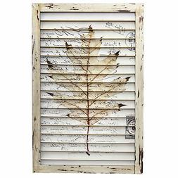 Leaf Vintage-Style French Postcard Floral Art Window Shutter