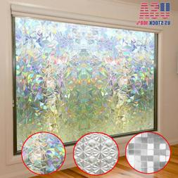 Lots 3D Static Cling Cover Frosted Window Glass Film Sticker