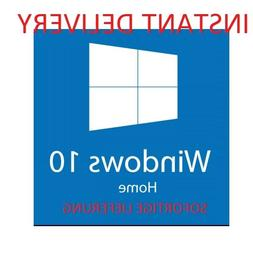 Microsoft Win­dows 10 HOME KEY 32-64 Bit Product MS Win Act