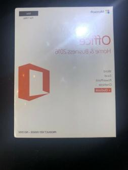 New Microsoft Office Home and Business 2016 MAC Retail Seale