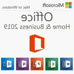 MICROSOFT OFFICE 2019 HOME AND BUSINESS FOR 1 APPLE MAC COMP