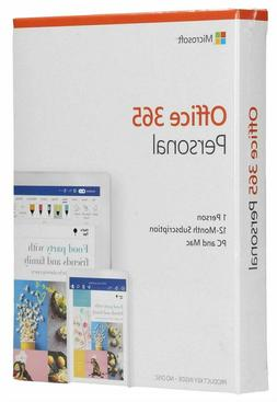 Microsoft Office 365 Personal 1 Person 1-Year Subscription