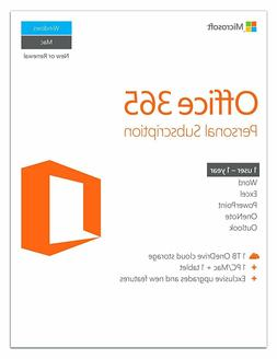 Microsoft Office 365 Personal Subscription - 1user-1year