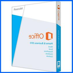 MICROSOFT OFFICE HOME AND BUSINESS 2013 SUITE | SEALED | 2 P