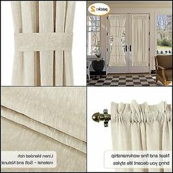 OWESOME French Door Curtain Window Panels w/ Rod Pocket for