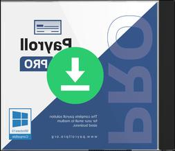 Payroll PRO software for Windows 10 - CD - Includes one mont