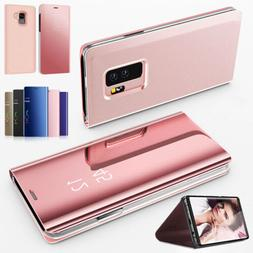 For Samsung Galaxy Note 10 9 8 4 5  Leather Flip Cover Windo