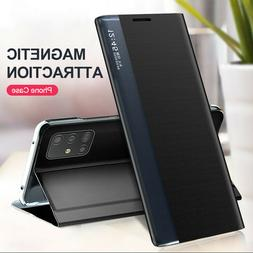 For Samsung Note 20 Note 10 S20 Ultra Smart Magnetic View Wi