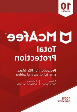 McAfee Total Protection 2019, 10 Multi-Devices, 1 Year