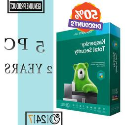 Kaspersky Total Security Antivirus 2020 - 5 PC Device 2 YEAR