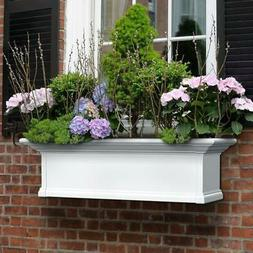 Vinyl Window Box Yorkshire 12 in. x 36 in. | white planter o