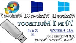 WINDOWS 10, 8, 7 ALL VERSIONS Multi Boot  INSTALLATION Softw
