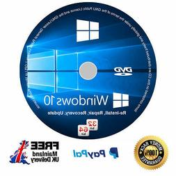 Windows 10 Bootable CD 64 bit Repair, Install, Upgrade 100%