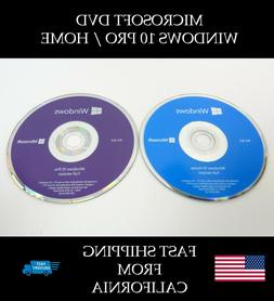 Microsoft Windows 10 PRO or HOME 64bit DVD Kit + Activation