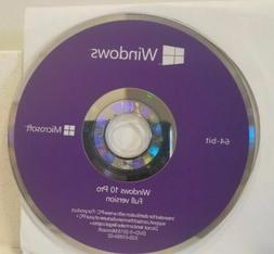 Microsoft Windows 10 PRO Professional - 64bit DVD - COA Prod