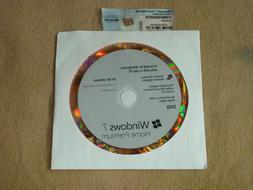 Windows 7 Home Premium x64 Disc with Product Key and 1 Ram M