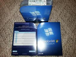 Microsoft  Windows 7 Professional 32/64-Bit DVDs MS WIN PRO