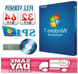 Windows 7 Professional  64-bit with Backup Disc also PRODUCT