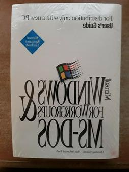 Windows For Workgroups & MS DOS Operating Systems  - Sealed/