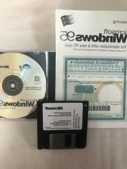 Microsoft Windows Win 95 OEM  OS Operating System Software C